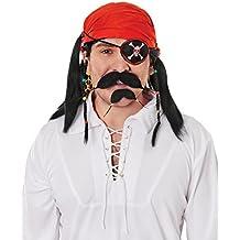 Peeks Pirate Beard and Moustache Set Fancy Dress Costume Outfit Accessory Kit