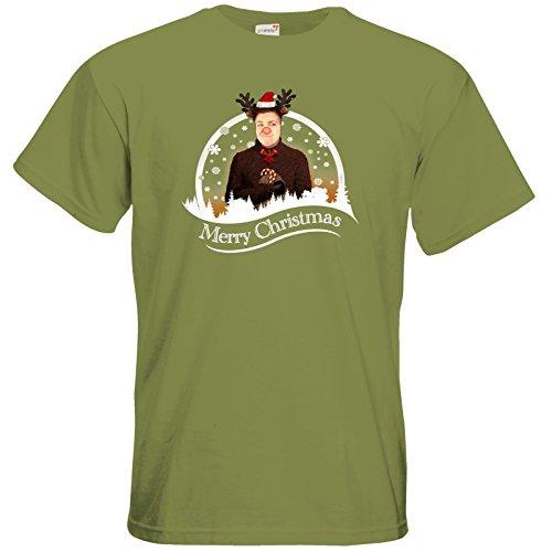 getshirts - Heidelwurst - T-Shirt - WeihnachtsCurry Green Moss