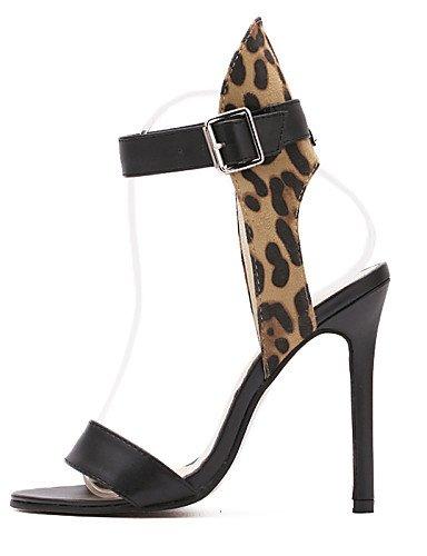 LFNLYX Chaussures Femme-Mariage / Habillé / Décontracté / Soirée & Evénement-Léopard-Talon Aiguille-Talons / Confort / Nouveauté / Bottes à la leopard