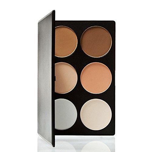 Ande rcala 6 couleurs maquillage Palette de Contour Kit Effet fluo et poudre bronzante