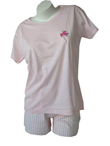 Damen Schlafanzug Kurzarm Rosa