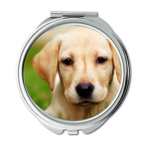 Spiegel, Schminkspiegel, Bunte süße Hund süße Hund, Taschenspiegel, 1 X 2 X Vergrößerung