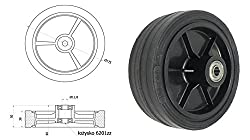Zabi Räder für mähmaschinen / Räder für rasenmäher Mäher d = 175 mm Kugellager