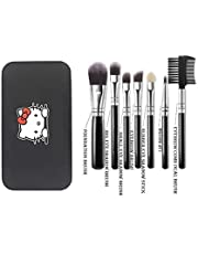 KylieProfessional Makeup Brush set of 7 (Black) With Strong Storage Box
