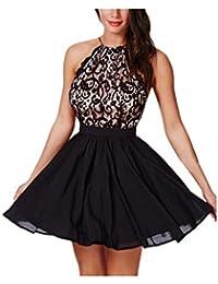 Vestido de fiesta, K-youth® Moda Vestido Corto de Mujer sin Espalda Cóctel Vestido de Fiesta Vestido de Noche