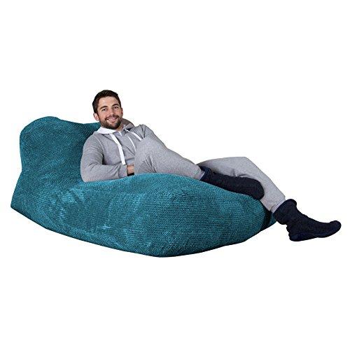 Lounge Pug®, Pouf Chaise Longue (2 Personnes), Pompon Mer Égéé
