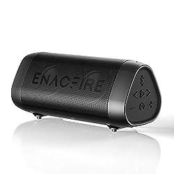 ENACFIRE SoundBar Mini Bluetooth Lautsprecher, 12W Kabellose Tragbare Musikbox mit Freisprechfunktion, 27 Stunden Spielzeit, 20m Bluetooth 5.0 Reichweite, IPX7 Wasserdicht