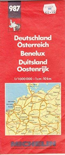 Allemagne, Autriche, Benelux, République Tchèque. Carte numéro 987, échelle 1/1000000