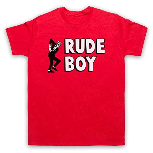 Rude Boy Jamaican Street Culture Slogan Herren T-Shirt Rot