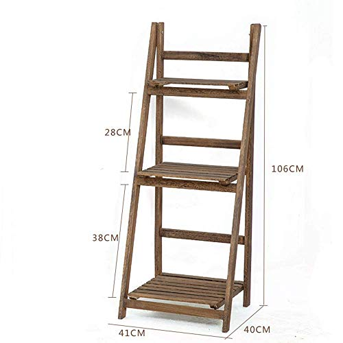 Jiaz Shelf Shelves Shelving Multifunctional Ladder-Shaped Plant Flower Stand Rack Bookrack Storage Racks - 3-tier-ladder Regale