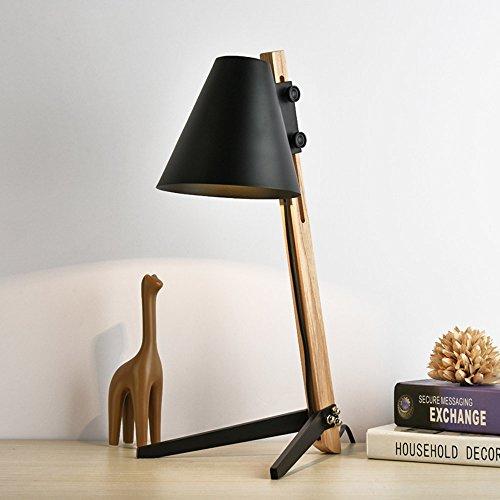 FEIFEI Tischlampe LED Holz Kunst Licht Pole Taste Schalter Augenschutz Zwei Farben Optional Wohnzimmer Schlafzimmer Nachttischlampe Arbeitszimmer Beleuchtung ( Farbe : 02 )