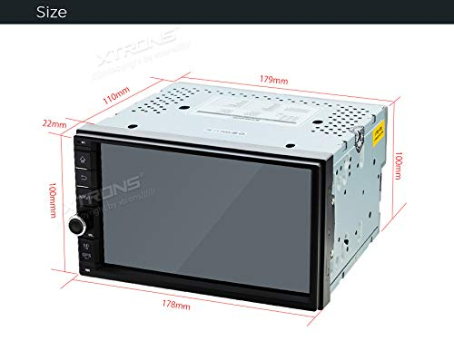 XTRONS-7-Touchscreen-Double-Din-Autoradio-mit-Android-81-Quad-Core-Multimedia-Player-3G-4G-Bluetooth50-2Din-16GB-ROM-DAB-OBD2-Full-RCA-Ausgang-Lenkradsteuerung-UNIVERSAL