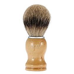 Abody Pure Badger Dachshaar Männer Rasierpinsel - Griff aus gelbem Buche, 1er Pack (1 x 1 Stück)