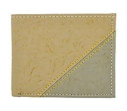 Exotique Mens Beige Faux Leather Wallet (WM0013BG)