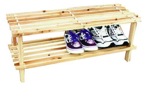 Alyssa Top (Schuhregal, 2 Ebenen, Holz, Regal, Ideal für Den Flur, Gäste-WC)