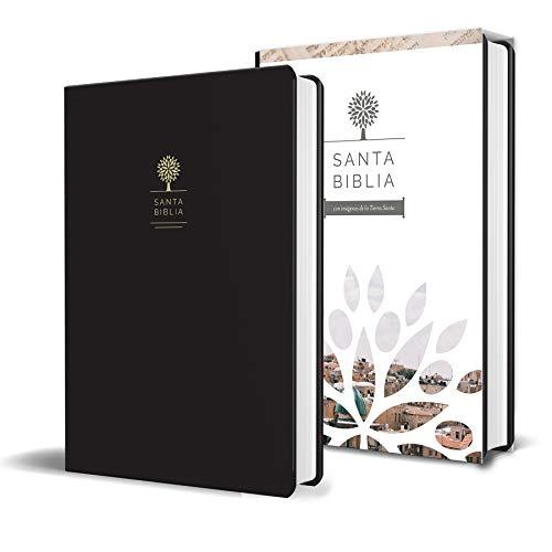 Santa Biblia RVR 1960 - Tamaño manual, letra grande, cuero de imitación, color negro / Spanish Holy Bible RVR 1960   Handy Size, Large Print