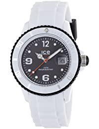 Ice-Watch Unisex-Armbanduhr ice-White weiß/schwarz Analog Quarz SI.WK.U.S.11