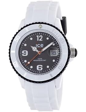 Ice-Watch Unisex-Armbanduhr ice-White weiß/schwarz Analog Quarz SI.WK.U.S.11