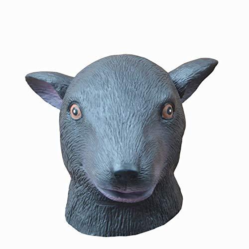Kostüm Head Chicken - Snake Cattle Mouse Sheep Chicken Head Latex Maske Tiermaske Vollmaske für Kostüm Halloween Fasching Party Erwachsen Masken Unisex, Einheitsgröße,D