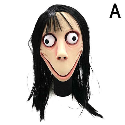Alexsix Scary Perücke Maske, Cosplay Neuheit süße Clown Maske, gruselige Herausforderung Halloween Ghost Kostüm Maske für Cosplay Party (Ghost Halloween Kostüm)