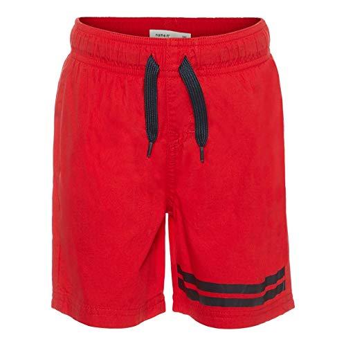 NAME IT Mini NMMZak - Bañador para niño talla: 122, color rojo