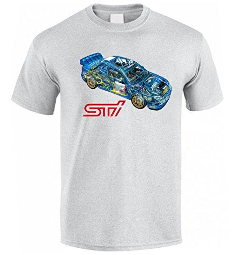 SUBARU IMPREZA GD STI WRX WRC McRae Mäkinen Solberg Fan T Shirt T-SHIRT Grau