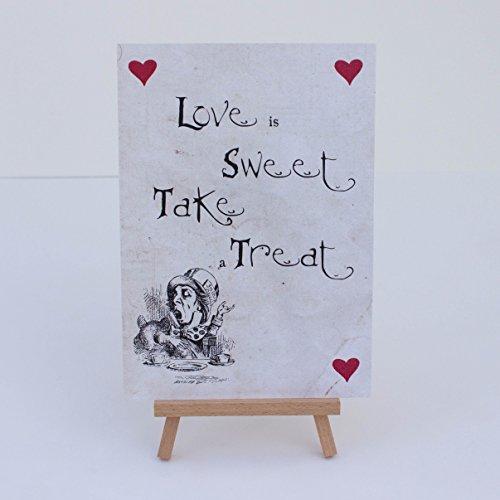 Candy Sweet Bar Used Weiß 'Love is sweet' Zeichen und Staffelei ()