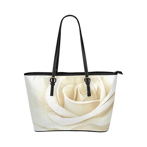 it Elegante Rose Große Leder Tragbare Top Griff Hand Totes Taschen Kausal Handtaschen Reißverschluss Schulter Einkaufstasche Geldbörse Organizer Für Dame Mädchen Frauen ()