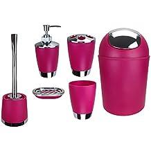Salle de bain rose - Accessoires salle de bain rose ...