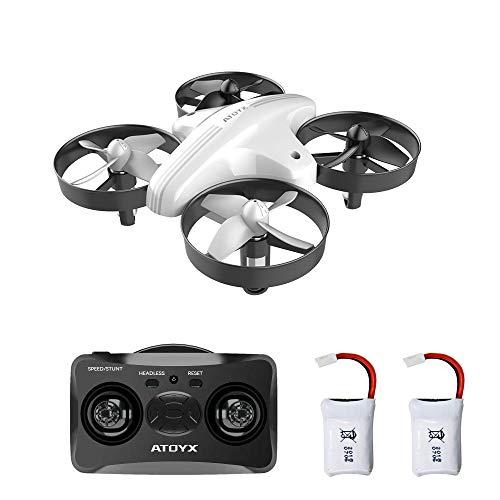 ATOYX AT-66 Mini Drohne für Kinder und Anfänger, RC Drone, Quadrocopter Mini Helikopter mit Höhehalten, Kopflos Modus, 3D Flips, EIN-Tasten-Rückkehr, Bestes Geschenk, 2 Batteries