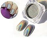 Born Pretty 1g Holographic Laser Powder Nail Art Glitter Rainbow Pigment Manicure Chrome Pigments