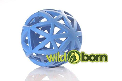 Produktbild bei Amazon - Wildborn Gitterball Hund | Gitterball Hundespielzeug Vollgummi Spielzeug | Kauspielzeug Gummiball für Hunde | Ball groß 12,5cm
