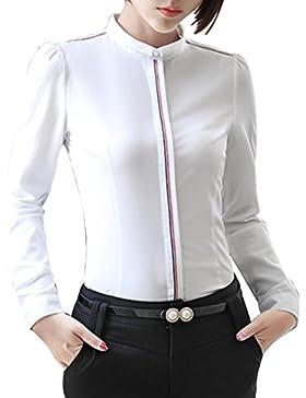 KINDOYO Donna O-Neck Maniche Lunghe Camicetta Camicia Tops Shirt