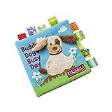 TrifyCore Bambino Libri di Panno Molle Non tossico Tessuto Primi Formazione Gioca attività Piega Libro di Panno per Il Bambino Neonati e Bambini 1pc Dog