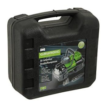 GRUNDIG 46935 Mini Compresseur d'Air Compact OT Compresseur automatique 12 V avec moteur haute performance