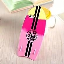 Fundas y estuches para teléfonos móviles, Un caso suave modelado tabla de surf para el iphone 5 / 5s (colores surtidos) ( Color : Rosa , Modelos Compatibles : IPhone 6s/6 )