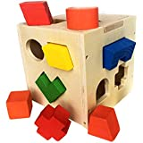 BAYBEE Wooden Assembling Shape Sorter for Kids Educational Intellectual Block Toys for Children Toddlers 3 Years Old and Up Boys & Girls Toys | Activities Toy for Age 5+ Years Old Kid