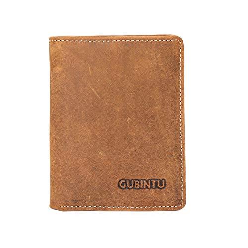 Männer Slim Mini Brieftasche Crazy Horseskin Vintage Brieftasche RFID Sperrung Brieftasche Kreditkarte Brieftasche, Männer (Handy-sperrung)