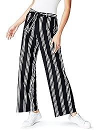 FIND Pantalon Rayé Large Femme