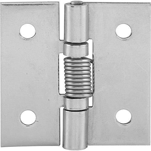 JUVA Tür-Scharnier Zubehör Möbel-Scharnier universal Ersatz-Türband montieren - Strenger | mit Feder | Edelstahl | zum Schrauben | 50 x 50 x 2 mm | 1 Stück