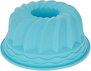 GKA Silikon Backform Gugelhupfform Gugelhupf Guglhupf Napfkuchen Backen Form Kuchenform 24 x 11 cm in 3 Farben (blau)