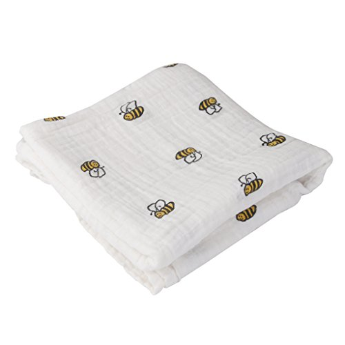 Generic 1 Pcs Muslin Cotton Blanket Bath Towel - White