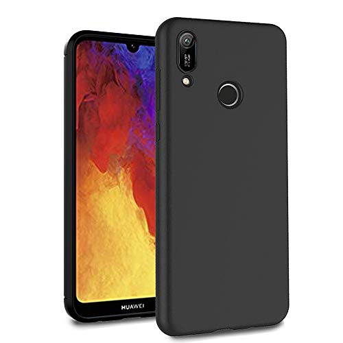 Price comparison product image Ferilinso Case for Huawei Y6 Pro 2019 / Huawei Y6 2019 / Honor 8A, Ultra [Slim Thin] Scratch Resistant TPU Rubber Soft Skin Silicone Protective Case Cover (Black)
