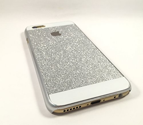 Coque arrière strass paillette - Iphone 6 - Argent Silver