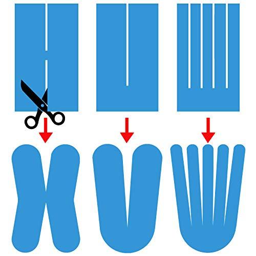 6 x Kinesiologie Tape 5 cm x 5 m in verschiedenen Farben von Alpidex, Farbe:schwarz - 6