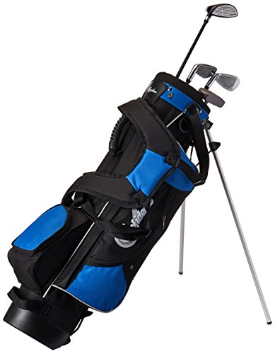 Vertrauen Junior Golf Club Set mit Stand Bag, blue/blk -