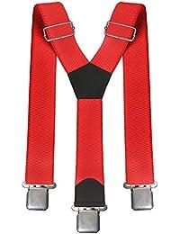 Zarlena Y Hosenträger 4cm 40mm Breite mit 3 extrastarken Clips in vielen Farben