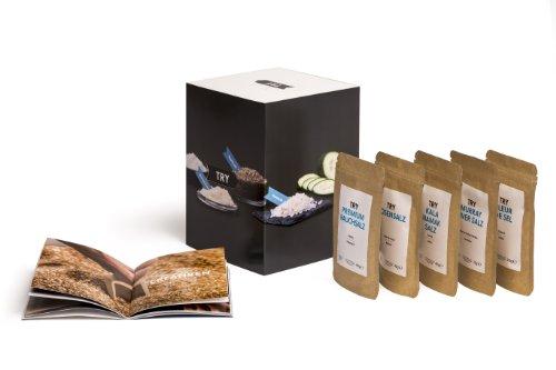Preisvergleich Produktbild Salz Set Geschenkset I Fleur de Sel,  Murray River,  Rosensalz,  Rauchsalz,  Kala Namak I Hochwertige Geschenke Feinschmecker Probierset