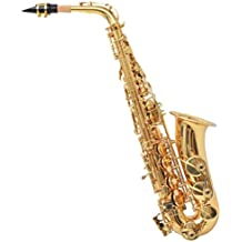 Festnight- Saxophone Alto Laiton Jaune avec Laque dorée EB Partitions Musicales
