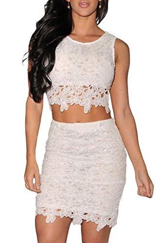 Dissa® femme Blanc SY21141-1 robe de cocktail Blanc
